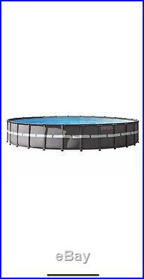 Intex 26' x 52 Ultra Frame Above Ground Swimming Pool Set with Pump and Ladder