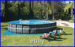 Intex 26ft X 52in Ultra XTR Round Frame Pool Set With Sand Filter Pump