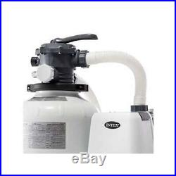 Intex 2800 GPH Above Ground Pool Sand Filter Pump with Automatic Timer (Brown Box)