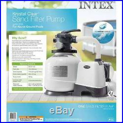 Intex 2800 GPH Above Ground Pool Sand Filter Pump with Automatic Timer (Used)