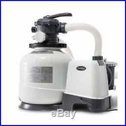 Intex 2800 GPH Pool Sand Filter Pump withKrystal Clear Saltwater System