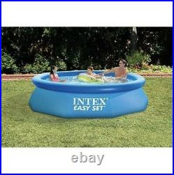 Intex 28121EH 10ft x 30in Easy Set Inflatable Kid Swimming Pool with Filter Pump