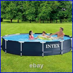Intex 28211ST 12' x 30 Metal Frame Round Above Ground Pool with Pump (Open Box)