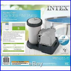 Intex 28633EG Krystal Clear Cartridge Filter Pump for Above Ground Pools 2500