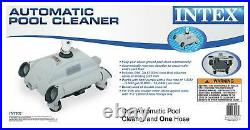 Intex 3000 GPH Above Ground Pool GFCI Sand Filter Pump and Automatic Pool Vacuum