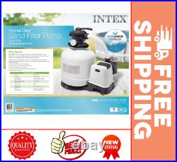 Intex 3000 GPH Krystal Clear Sand Filter Pump for Pools WithGFCI Freeshipping