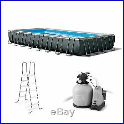 Intex 32 Ft x 16 Ft x 52 Inch Ultra XTR Rectangular Pool Set with Pump (Used)