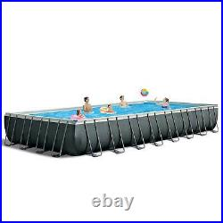 Intex 32' x 16' x 52 Ultra XTR Outdoor Swimming Pool Set with Pump (For Parts)