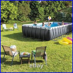 Intex 32ft X 16ft X 52in Ultra Frame Rectangular Pool Set with Sand Filter Pump