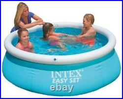 Intex 6ft 8ft 10ft 13ft Easy Set Round Inflatable Swimming Pool no Pump, Filter