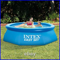 Intex 8 x 2.5 Inflatable Swimming Pool with Filter Pump & 8 Round Pool Cover