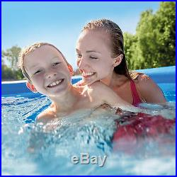 Intex 8ft x 2.5ft Easy Set Inflatable Swimming Pool with Filter Pump, Blue