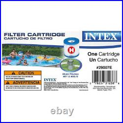 Intex 8ft x 30in Easy Set Blow Up Above Ground Swimming Pool & Pump & 2 Filters