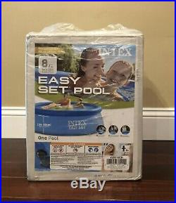 Intex 8x30 Easy Set Round Inflatable Above Ground Pool IN HAND NO FILTER PUMP