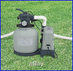 Intex Above Ground Pool 1600 GPH Saltwater System & Sand Filter Pump & Valves