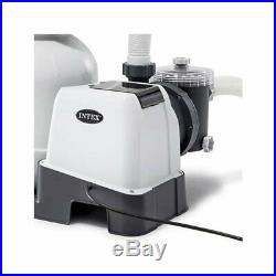 Intex Above Ground Pool Sand Filter Pump 2100 GPH with Automatic Timer 26645EG