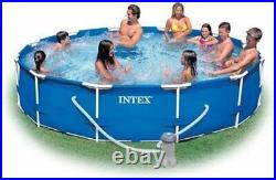 Intex Above Ground Pool with Filter Pump Intex 12' x 30 Metal Frame Safe New