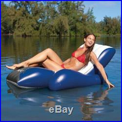 Intex Above Ground Pool with Pump, Ladder, Inflatable Lounger Chair (2) & Cooler
