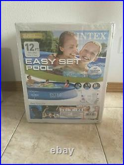 Intex Above Ground Swimming Pool Easy Set 12ft X 30in Filter Pump 530 gal