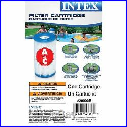 Intex Above Ground Swimming Pool Set with Pump, Ladder & Replacement Filter (6)