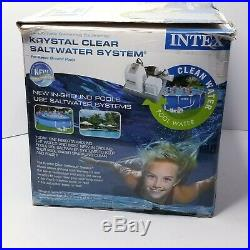 Intex Crystal Clear Saltwater Cleaning System Model CS8110 Used Untested