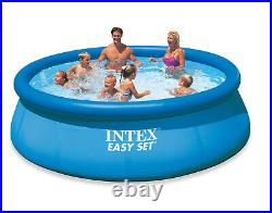Intex Easy Set Inflatable Pool, Filter & Pump and Easy Set Pool Cover (Open Box)