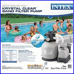Intex Krystal Clear 3000 GPH Above Ground Swimming Pool Sand Filter Pump 28651EG