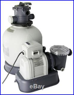 Intex Krystal Clear 3000 GPH Sand Filter Pool Pump with 15000 Gal Saltwater System
