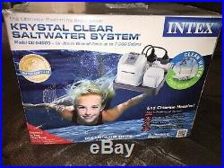 Intex Krystal Clear Saltwater System for Up to 7000-Gallon Pools Filter Pump
