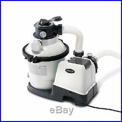 Intex Krystal Clear Sand Filter Pump for Above Ground Pools, 10-inch, 110-120V