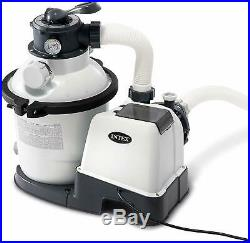 Intex Krystal Clear Sand Filter Pump for Above Ground Pools, 10-inch, 110-120V w