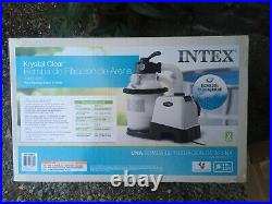 Intex Krystal Clear Sand Filter Pump for Above Ground Pools, 10-inch, 1200 GPH
