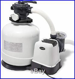 Intex Krystal Clear Sand Filter Pump for Above Ground Pools, 16-inch, 110-120V