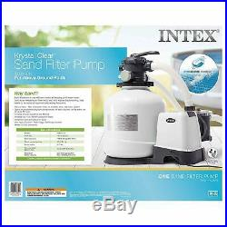 Intex Krystal Clear Sand Filter Pump for Above Ground Pools 16inch, 110-120V, GFCI