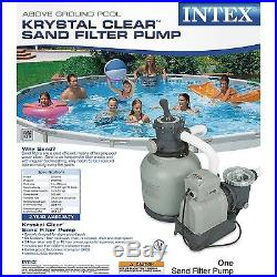 Intex Krystal Clear Sand Filter Pump for Above Ground Pools 2800 GPH Pump Flo