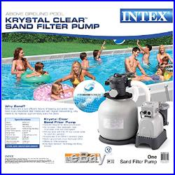 Intex Krystal Clear Sand Filter Pump for Above Ground Pools 3000 GPH Flow NEW