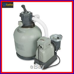 Intex Krystal Clear Sand Filter Pump for Above Ground Pools, 3000 GPH System Flo
