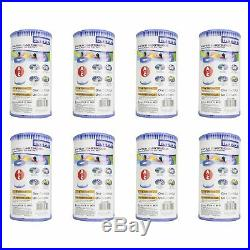 Intex Pool Easy Set Type A Replacement Filter Pump Cartridge (8 Pack) 29000E