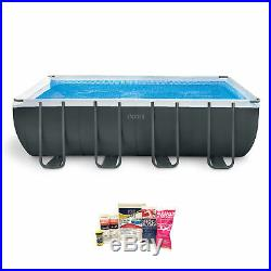 Intex Ultra 18 Foot XTR Metal Frame Pool Set with Pump & Chemical Cleaning Kit