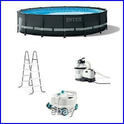 Intex Ultra XTR 16ft x 48in Outdoor Frame Above Ground Swimming Pool Set with Pump