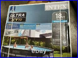 Intex Ultra XTR 26329EH 18ft. X 52in. Frame Pool Set with Sand Filter Pump