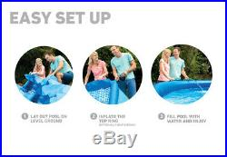 NEW INTEX 28157EH 15 x 33 EASY SET ABOVE GROUND POOL WITH FILTER CARTRIDGE PUMP