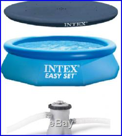 NEW Intex 12ft x 30in Easy Set Above Ground Pool with Filter Cartridge Pump+Cover