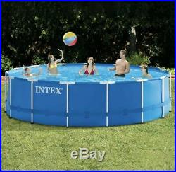 NEW Intex 15' x 48 METAL FRAME Above Ground Swimming Pool w Pump SHIPS FAST