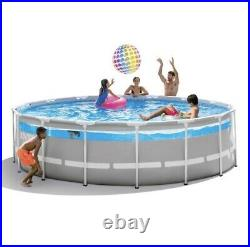 NEW Intex 16ft x 48in Clearview Prism Above Ground Swimming Pool with Pump