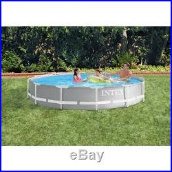 NEW Intex 26711EH 12 x 30 Prism Frame Above Ground Swimming Pool with Pump