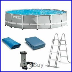 NEW Intex 26719EH 14ft x 42in Prism Frame Swimming Pool with Pump + Ladder + Cover