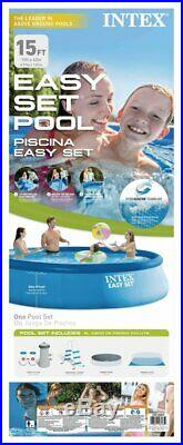 NEW Intex 26723EH 15ft x 42in Prism Frame Swimming Pool with Pump + Ladder + Cover