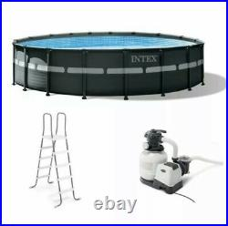 NEW Intex 26ft x 52in Ultra Frame Pool Set with Pump, Ladder, Ground Cloth & Cover