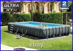 NEW Intex 32ft x 16ft x 52in Rectangular Ultra XTR Frame Swimming Pool with Pump
